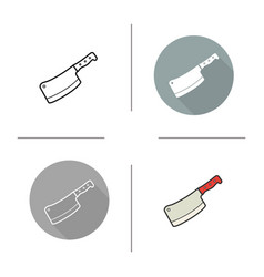 butchers knife icon vector image