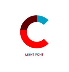 C light font template design vector