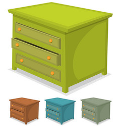 Cabinet green set vector