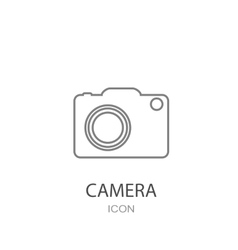 Camera icon Flat style object vector image