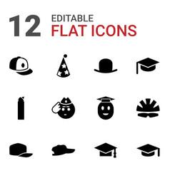 Cap icons vector
