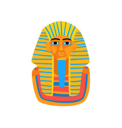 Cartoon of ancient egyptian pharaoh vector