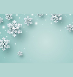 Christmas background design snowflake and snow vector