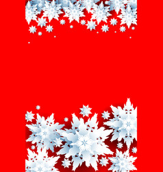 christmas design on red background for design vector image