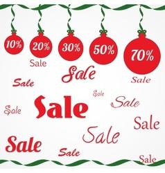 Christmas sale ornament vector image
