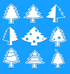 Christmas tree paper laser cutting vector