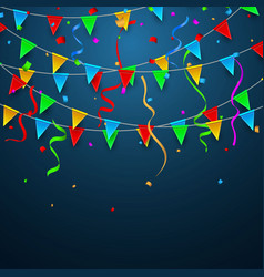 colorful confetti celebration carnival party vector image