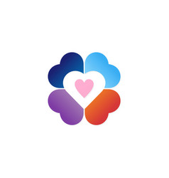 colorful love valentine logo vector image