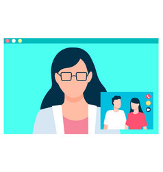conversation between people internet video call vector image