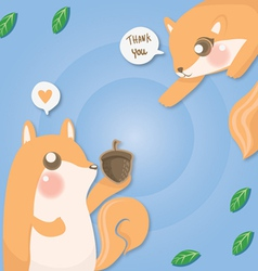 couple squirrel vector image