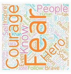 Courage text background wordcloud concept vector image