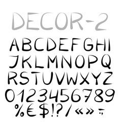 Decorative english alphabet vector image