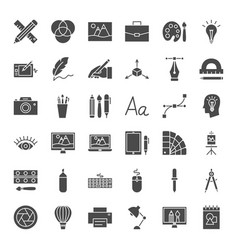 designer solid web icons vector image