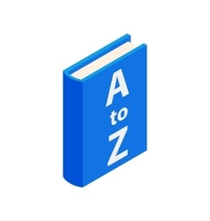 Dictionary book icon isometric 3d style vector