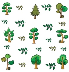 Doodle of tree various collection vector