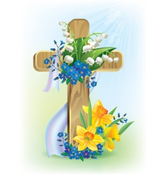 Easter cross vector
