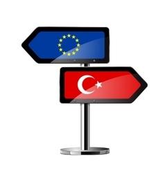 EU - Turkey Sign vector image