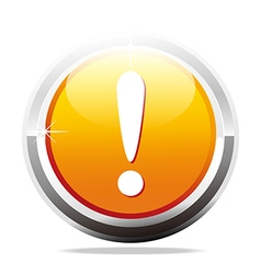 Exclamation mark careful design icon vector