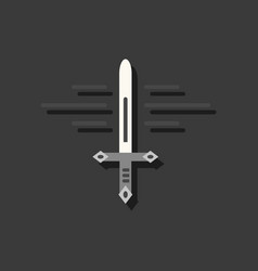 flat icon design collection ancient weapon sword vector image