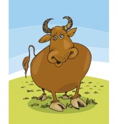 Funny bull vector