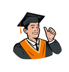 Funny graduate student education science menu vector