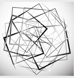 Geometric abstract with irregular squares modern vector