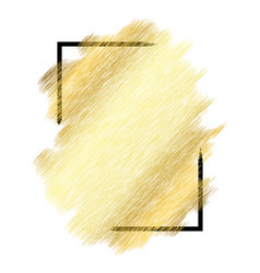Gold metall texture black frame golden color vector