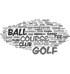 golf word cloud concept vector image