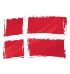 grunge Denmark flag vector image