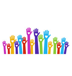 hands love color vector image