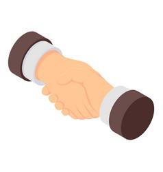 handshake icon isometric style vector image