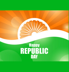 happy republic day of india national flag of vector image