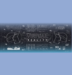 hud ui for virtual reality glasses futuristic vector image