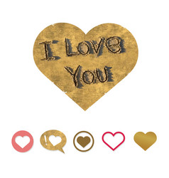 inscription on the sand i love you vector image