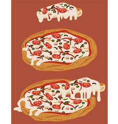 Italian handmade pizza 2 vector