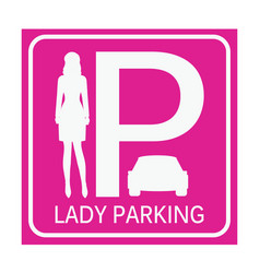 Lady parking zone vector