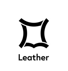 leather logo icon recycled leather symbol vector image