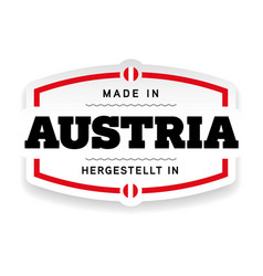 Made in austria label vector