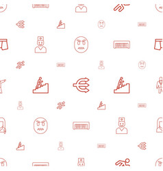 Man icons pattern seamless white background vector