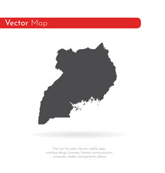 map uganda isolated black on vector image