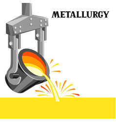 Metallurgical ladle vector