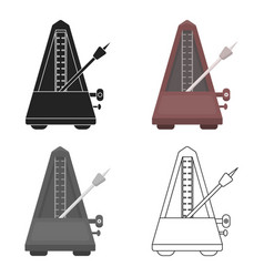 Metronome icon in cartoon style isolated on white vector