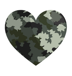 military camouflage heart design vector image