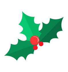 Mistletoe christmas tree some red bubbles vector