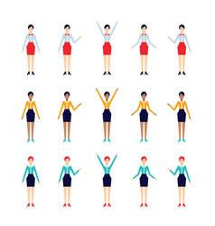 modern flat design cartoon character set vector image