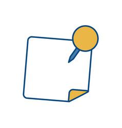 Office pin design vector