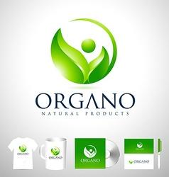 Organic leaf logo design vector