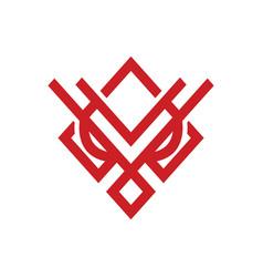 Owl face logo vector
