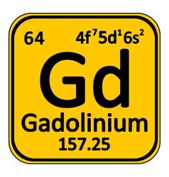 Periodic table element gadolinium icon vector
