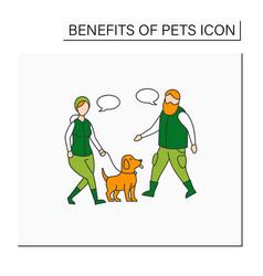 Pets benefits color icon vector